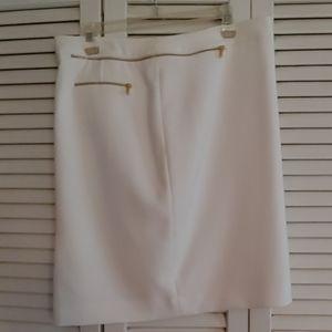 Ann Klein skirt net winter white